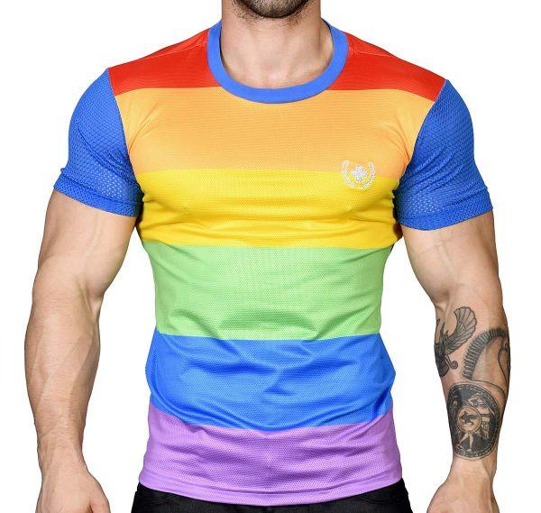 Andrew Christian T-shirt ULTRA PRIDE LAUREL MESH TEE 10291, mehrfarbig