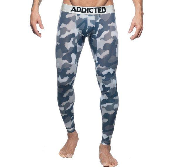 Addicted lange Unterhose CAMO LONG JOHN AD694, camouflage-grau
