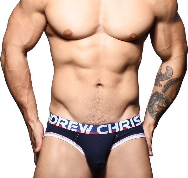 Andrew Christian Slip ALMOST NAKED COTTON BRIEF 91615, navy