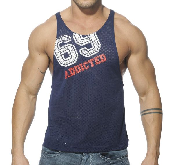 Addicted Tank Top LOW RIDER 69 AD241, navy