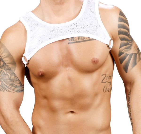 Andrew Christian Harness MASSIVE SNOW RING HARNESS 3167, weiß/silber