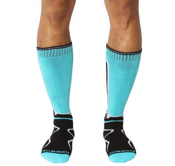 Cellblock 13 Sports socks KENNEL CLUB Mid-Calf SOCK, turquoise