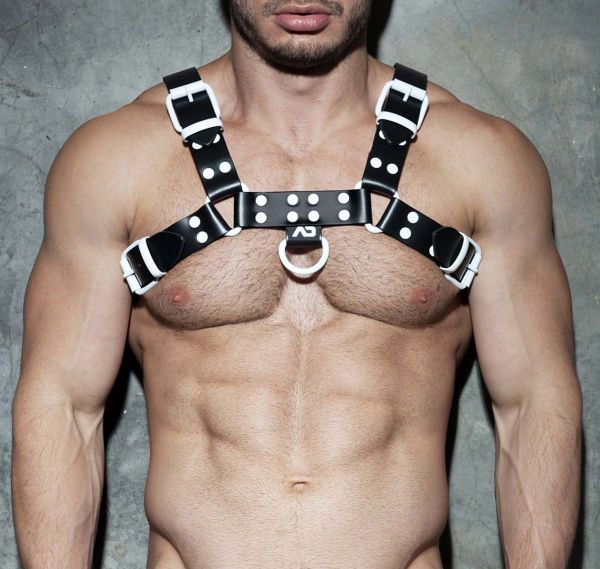AD FETISH Imbracatura LEATHER COLOR HARNESS ADF119, bianco