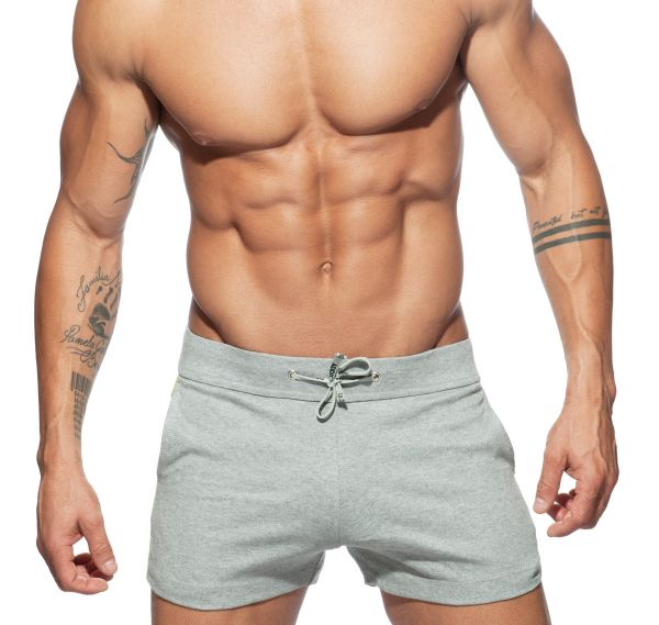 Addicted Sporthose GEOBACK SHORT AD613, hellgrau