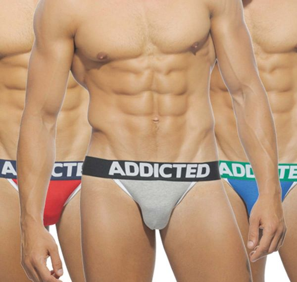 Addicted 3er Pack Jockstrap BASIC AD363P