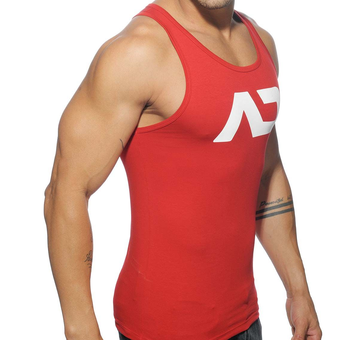 Addicted Sportshirt BASIC AD TANK TOP AD457, rot