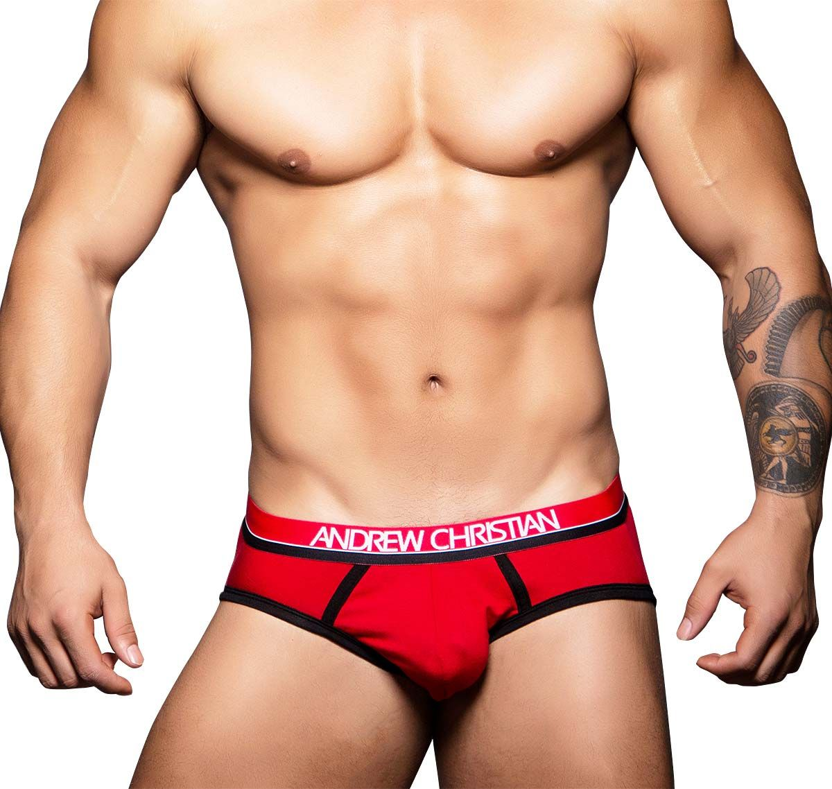 Andrew Christian Slip COOLFLEX TAGLESS SPORTS BRIEF 90132, rot