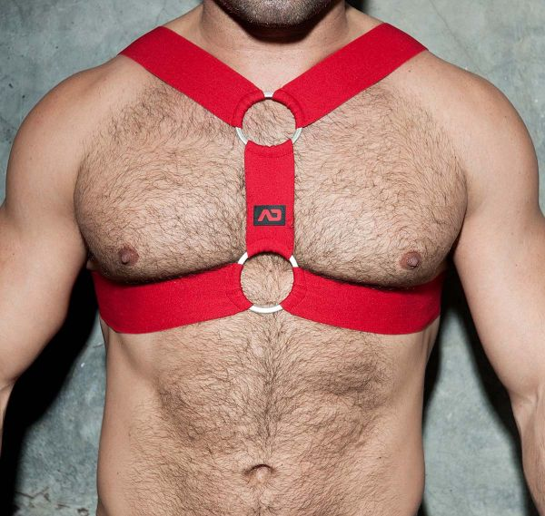 AD FETISH Harness DOUBLE RING HARNESS ADF116, rot