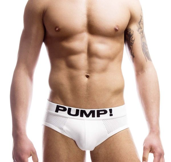 Pump! Mesh Slip TOUCHDOWN CLASSIC BRIEF 12008, weiß
