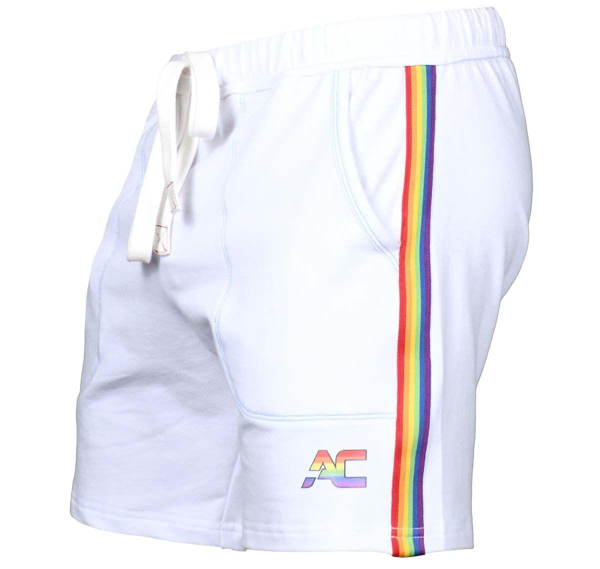 Andrew Christian Short de sport PRIDE TRAINING SHORTS 6561, blanc