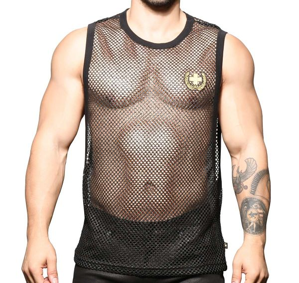 Andrew Christian Tank Top SLICK MESH LAUREL GYM TANK 2785, schwarz