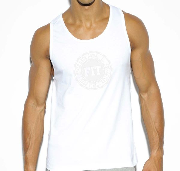 ES Collection BASIC COTTON FIT TANK TOP TS194, weiß