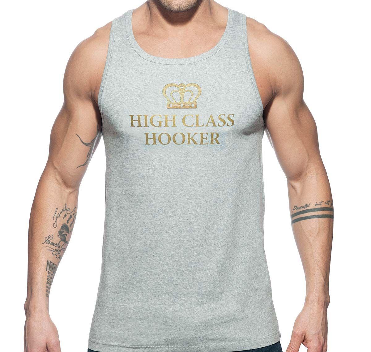 Addicted Canotta HIGH CLASS HOOKER TANK TOP AD646, grigio