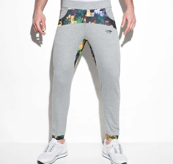 ES Collection lange Sporthose PALM GLITCH PANTS SP168, grün/grau
