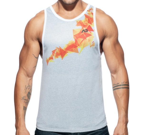 Addicted Sportshirt GEOBACK TANK TOP AD616, weiß