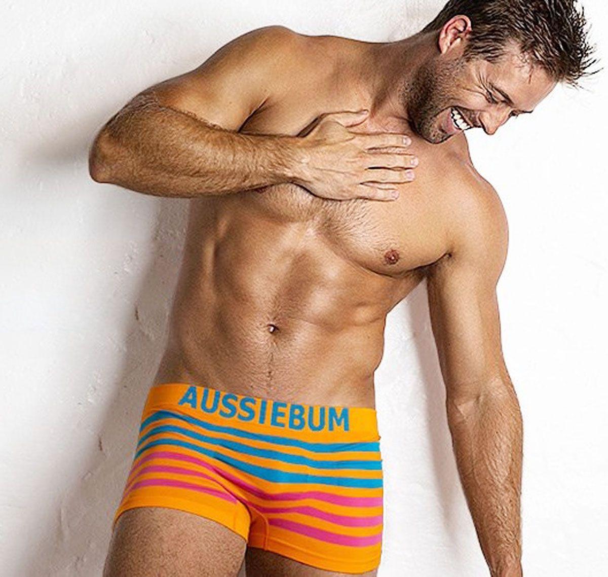 aussieBum Boxer BODYSTRETCH orange/bleu