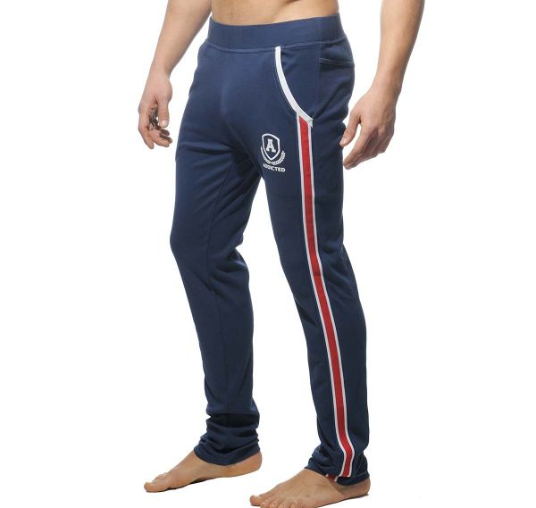 Addicted lange Sporthose LONG TIGHT PANT INTERCOTTON AD335, navyblau