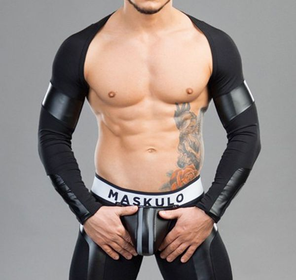 MASKULO Fetish Crop Top YOUNGERO. TP33-90, schwarz