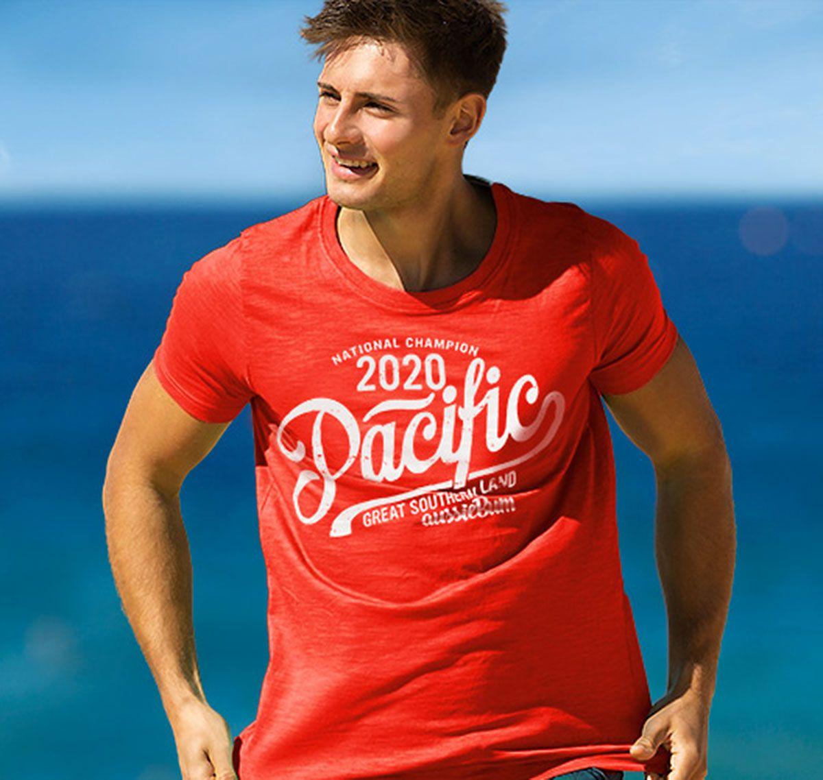 aussieBum Camiseta DESIGNER TEE PACIFIC, rojo