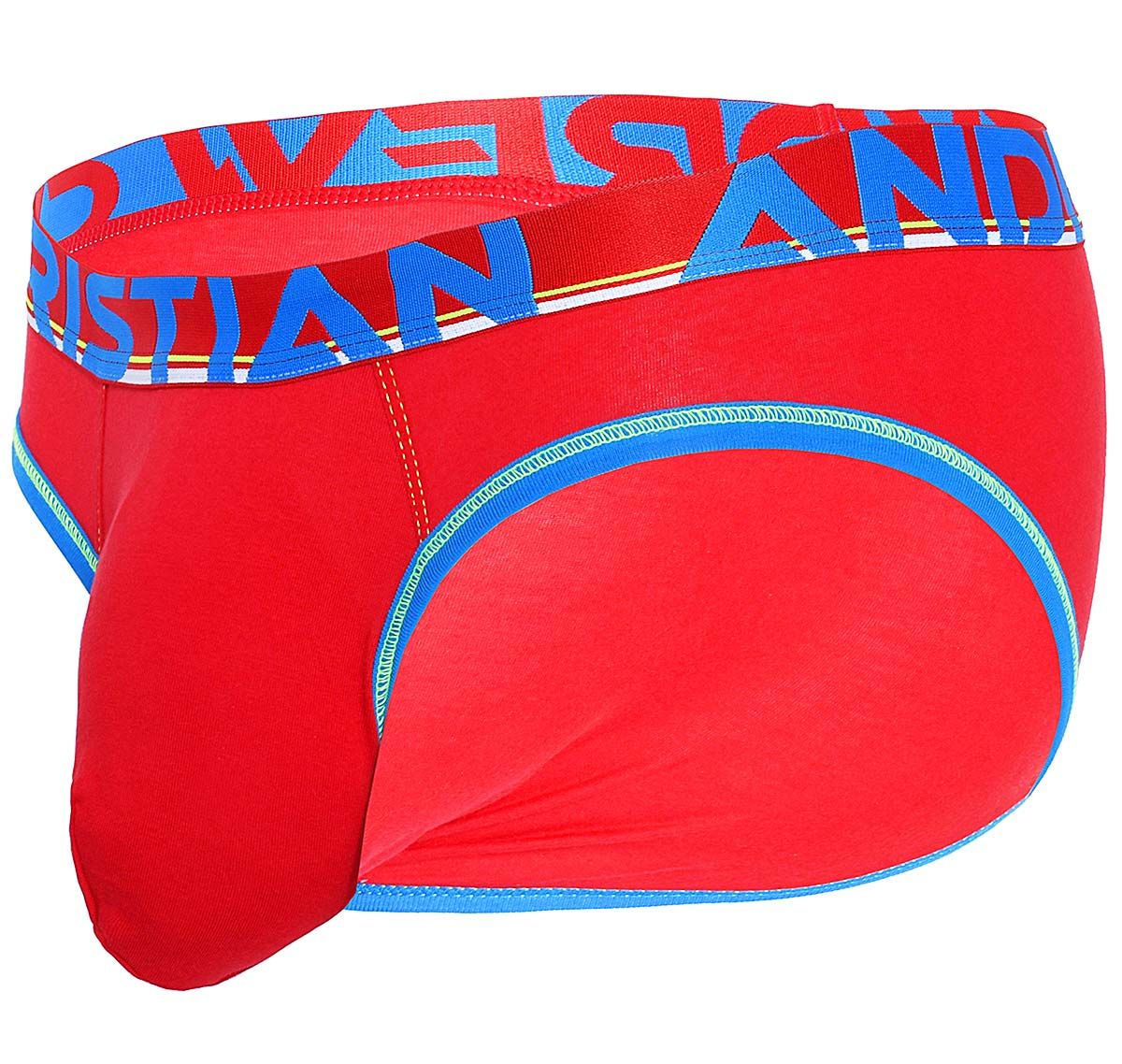 Andrew Christian Slip ALMOST NAKED COTTON BRIEF 91434, rouge