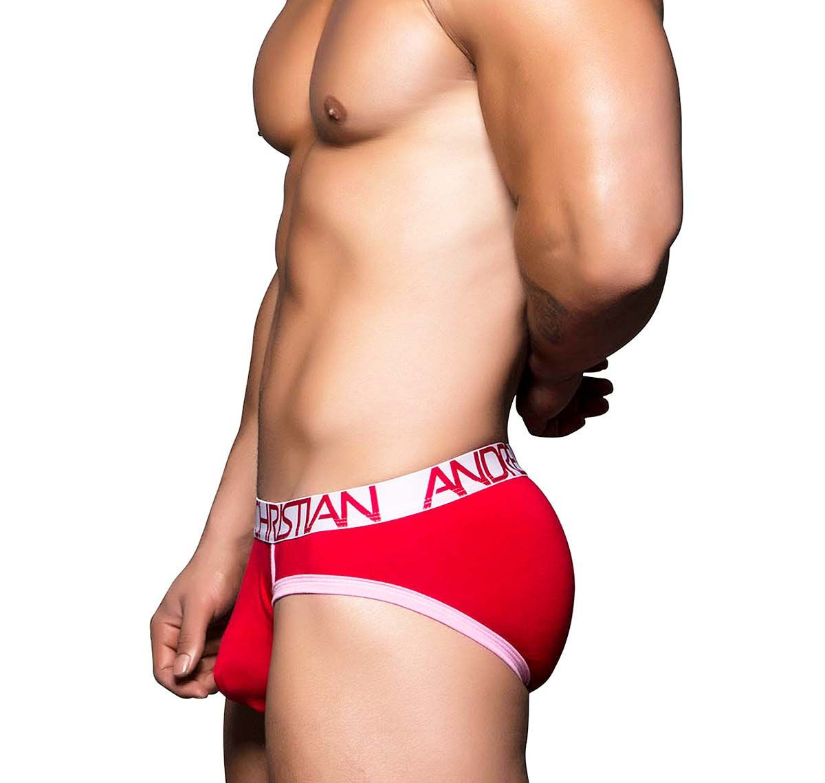 Andrew Christian Slip TAGLESS SWEETHEART BRIEF 90140, rouge