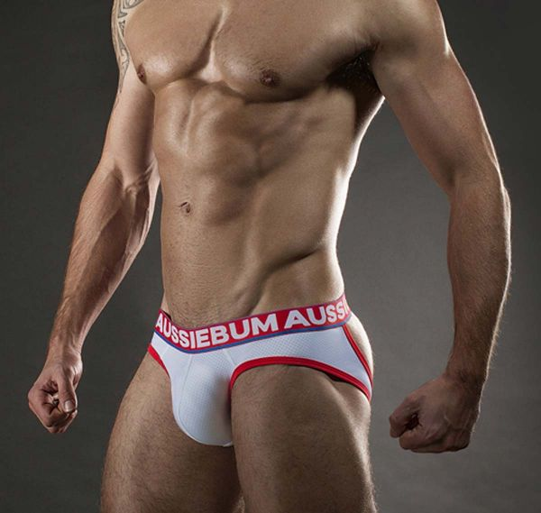 aussieBum Slip LASHER BRIEF EXPOSED, weiss