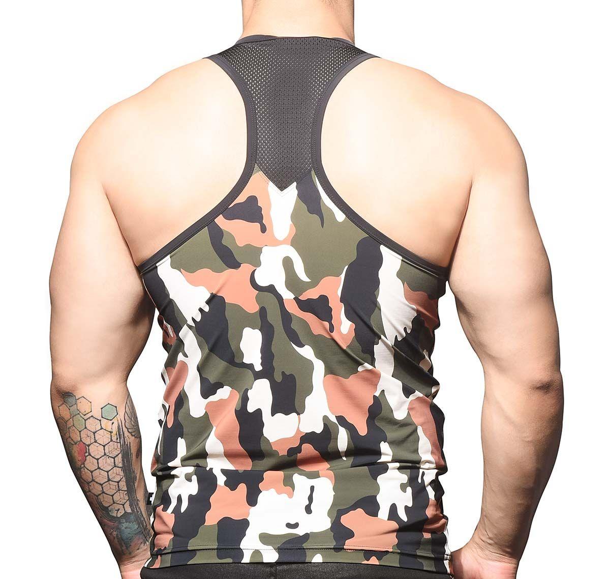 Andrew Christian Camiseta de tirantes CAMOUFLAGE MESH TANK 2807, army