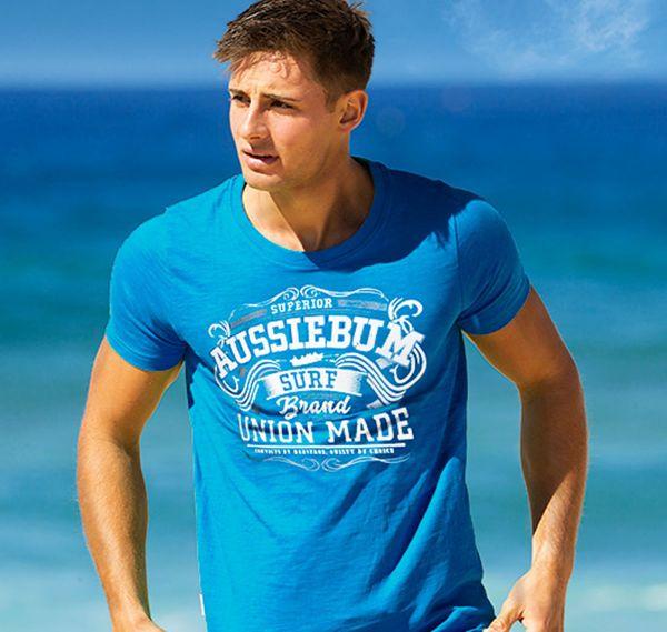aussieBum T-Shirt DESIGNER UNION, blau
