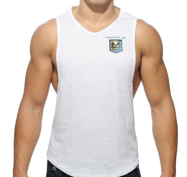 Addicted BADGE TANK TOP AD383, weiss