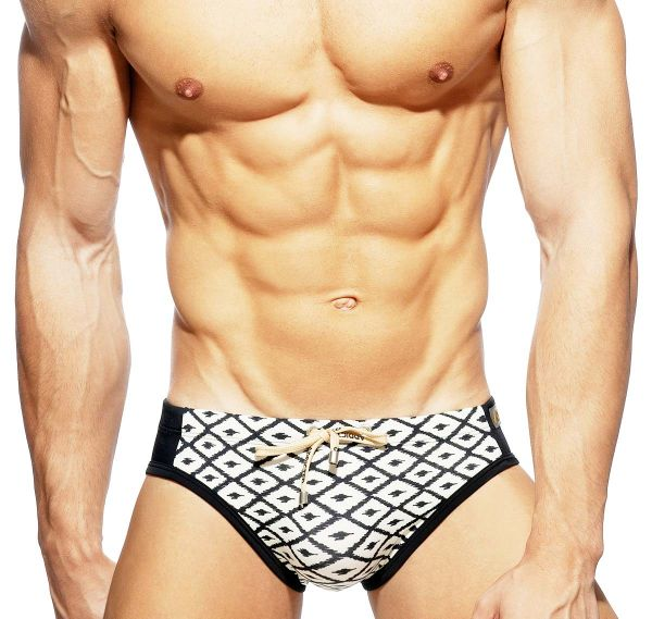 Addicted Push Up Swim Brief RHOMBUS SWIM BRIEF ADS235, black