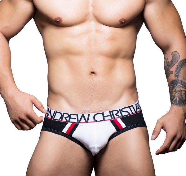 Andrew Christian VARSITY BRIEF COTTON STRETCH W/ SHOW-IT 90108, schwarz