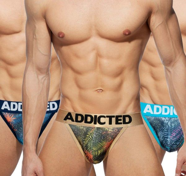 Addicted 3er Pack Brief 3 PACK TROPICAL MESH BIKINI PUSH UP, AD891P, multicolor