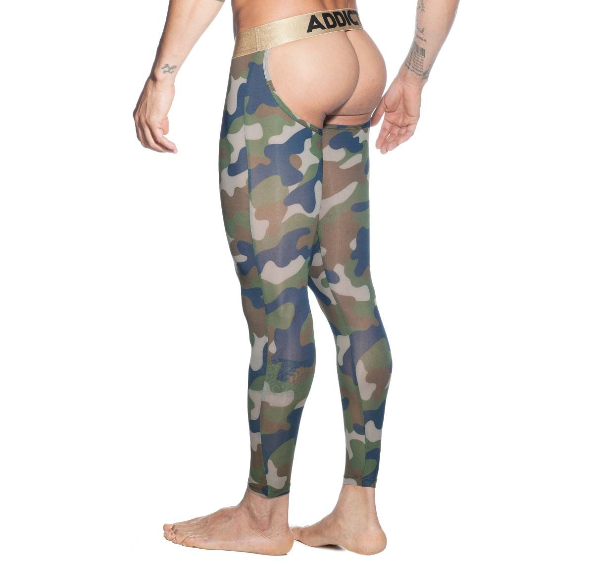 Addicted long underpants BOTTOMLESS CAMO LONG JOHN AD695, camouflage