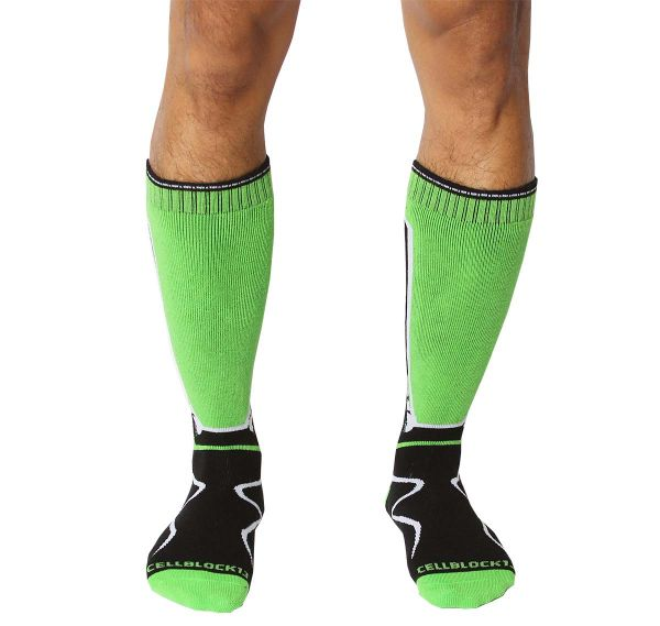 Cellblock 13 Sports socks KENNEL CLUB Mid-Calf SOCK, green