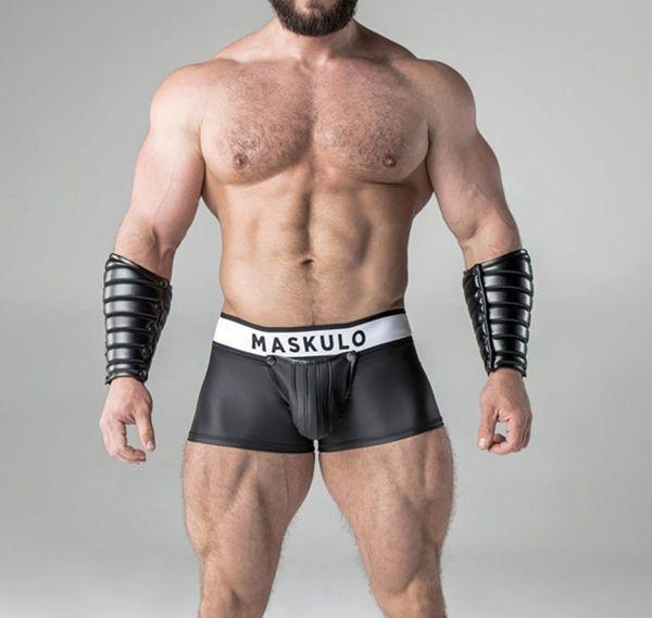 MASKULO Fetish Boxershorts ARMORED. Rubber Look TR21-90, schwarz