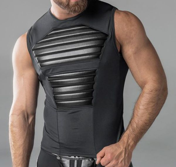 MASKULO fetish Tank top ARMORED. TP20-90, black