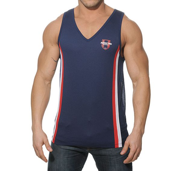 Addicted Tank Top LOOSE FITTING AD173, navy