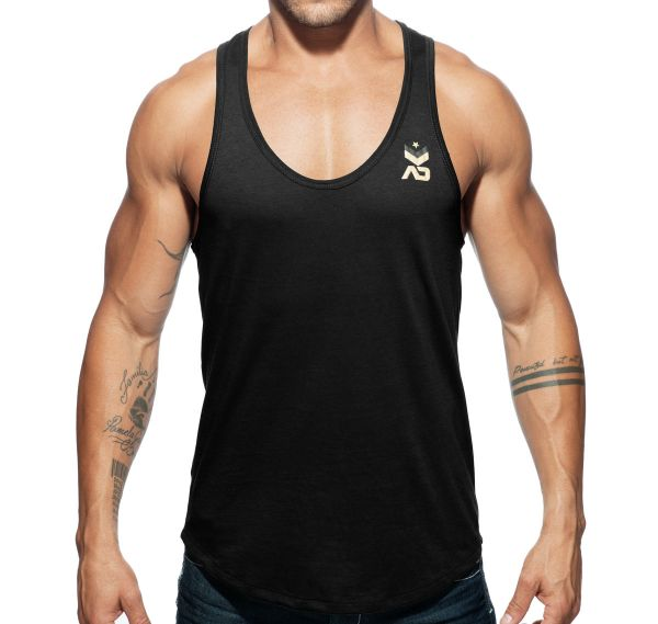 Addicted Sportshirt MILITARY TANK TOP AD611, schwarz