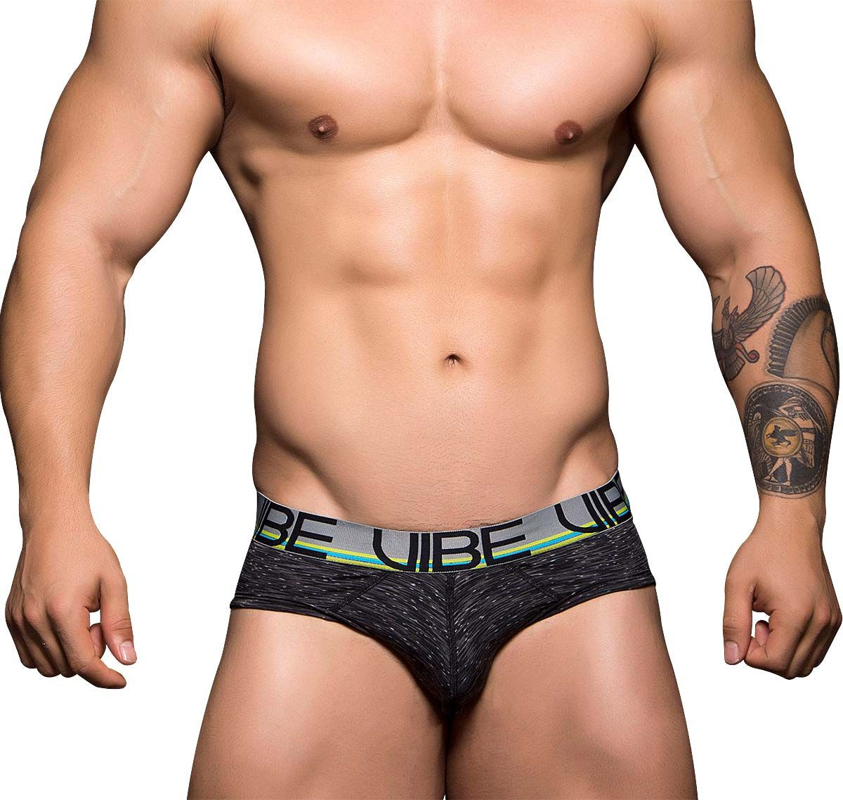Andrew Christian VIBE SPORTS & WORKOUT TAGLESS BRIEF 90078, asphaltgrau