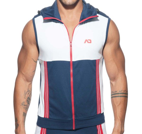 Addicted Sportjacke SLEEVELESS HOODY AD673, navy
