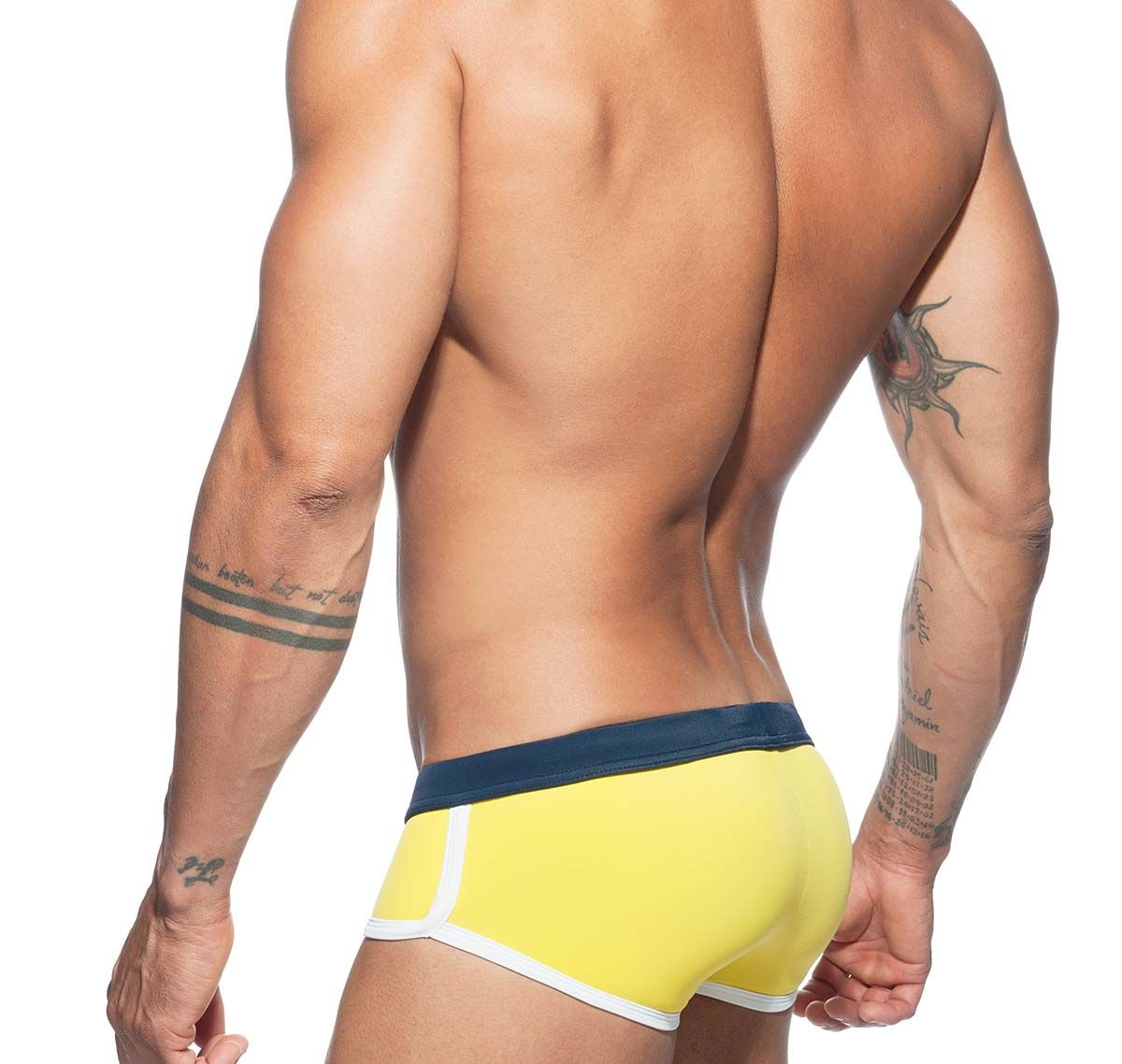 Addicted Push Up Swim Brief PLAIN SWIM BRIEF ADS163, yellow