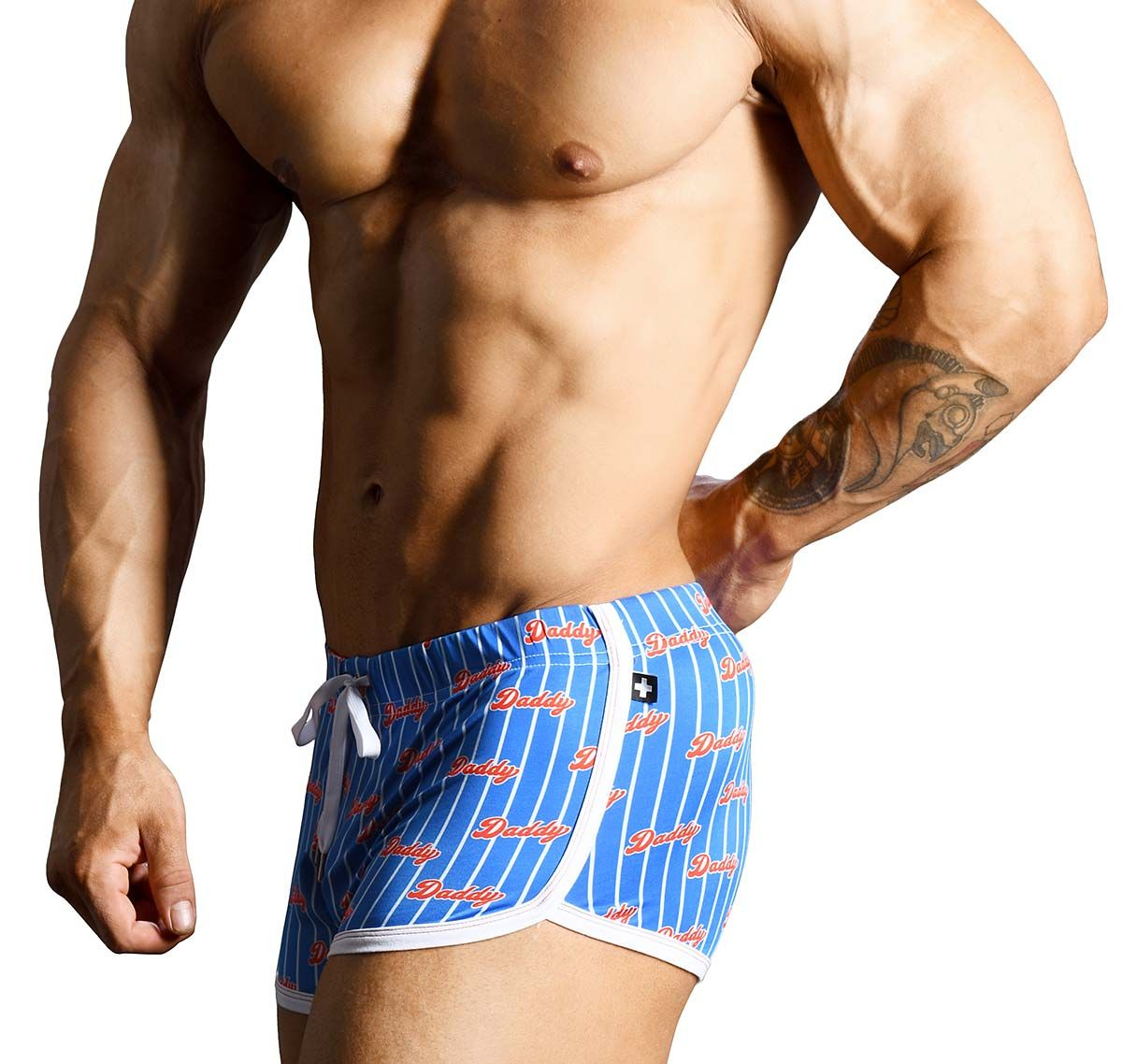 Andrew Christian Training shorts DADDY MICRO JOGGER SHORTS 6513, blue