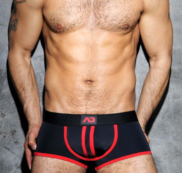 Addicted STRIPE FETISH BOXER ADF12, rot