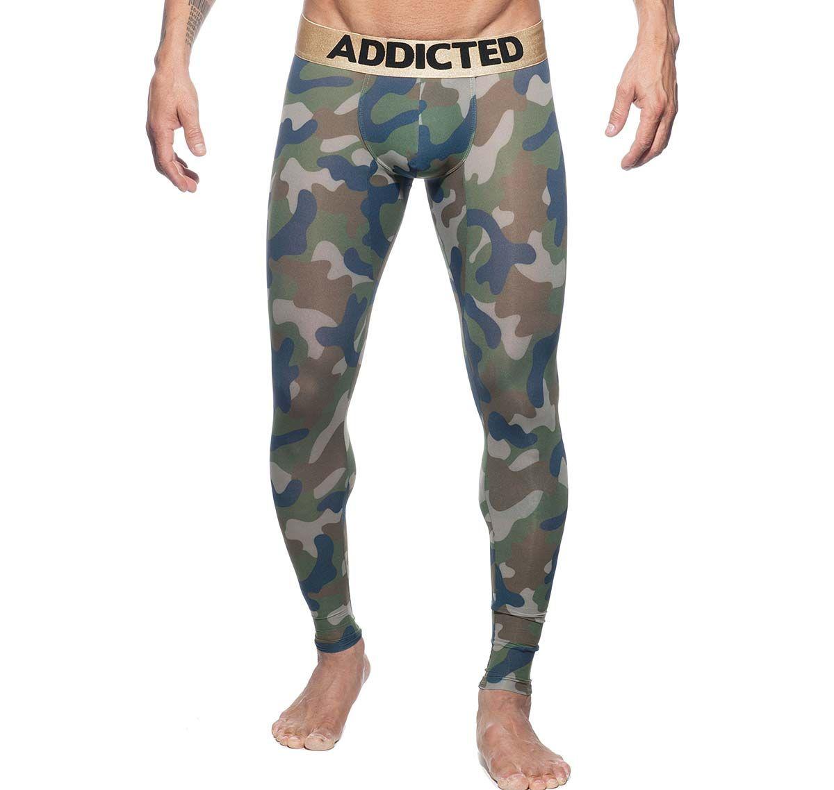 Addicted lange Unterhose CAMO LONG JOHN AD694, camouflage
