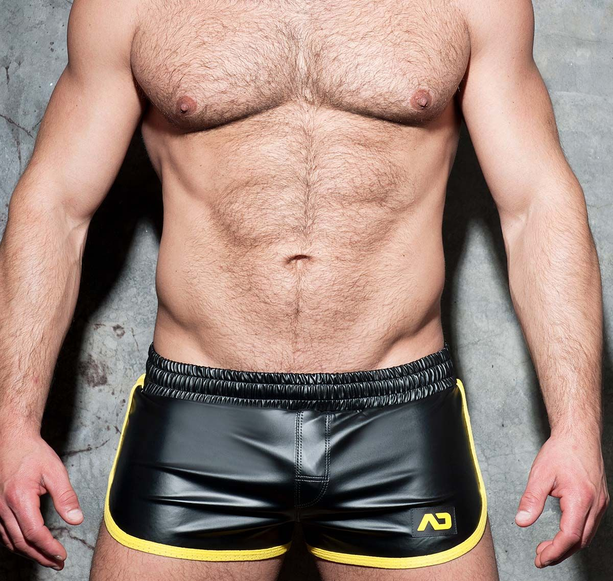 AD FETISH Shorts ROCKY DOUBLE SIDE ADF79, gelb