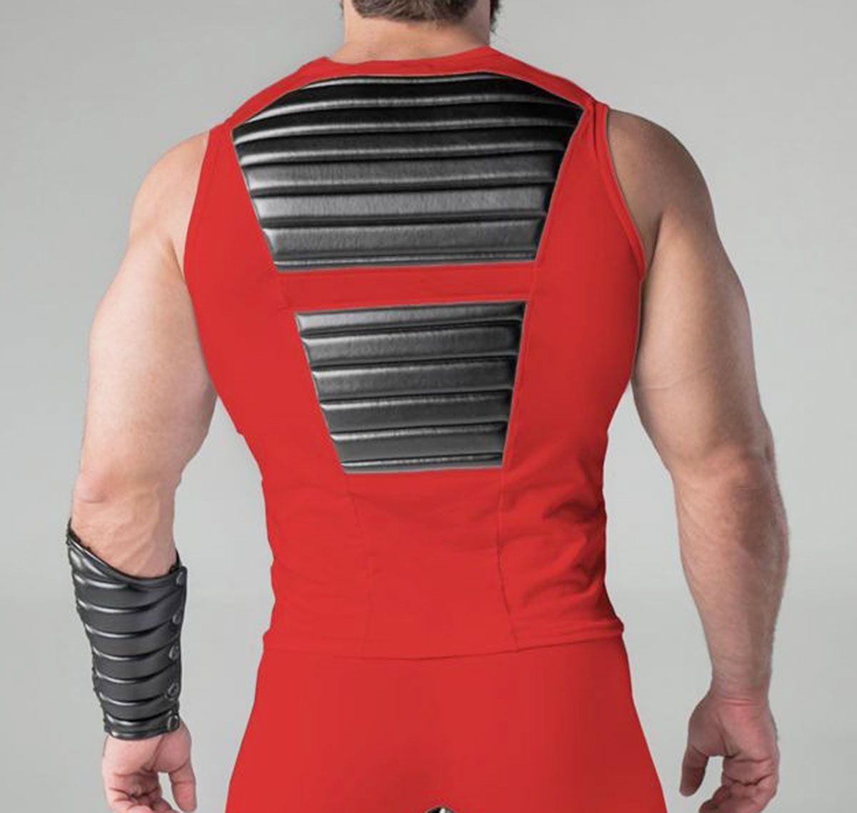 MASKULO Camiseta de tirantes fetiche ARMORED. TP060, rojo