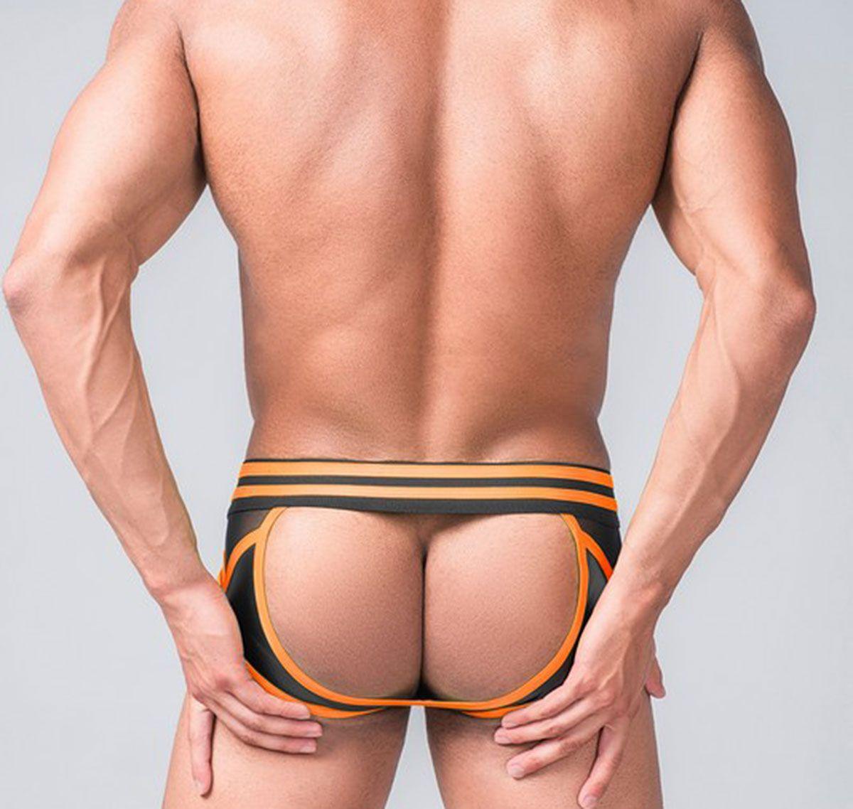 MASKULO Fetish Slip YOUNGERO GENERATION Y. Open Rear BR110-16, orange