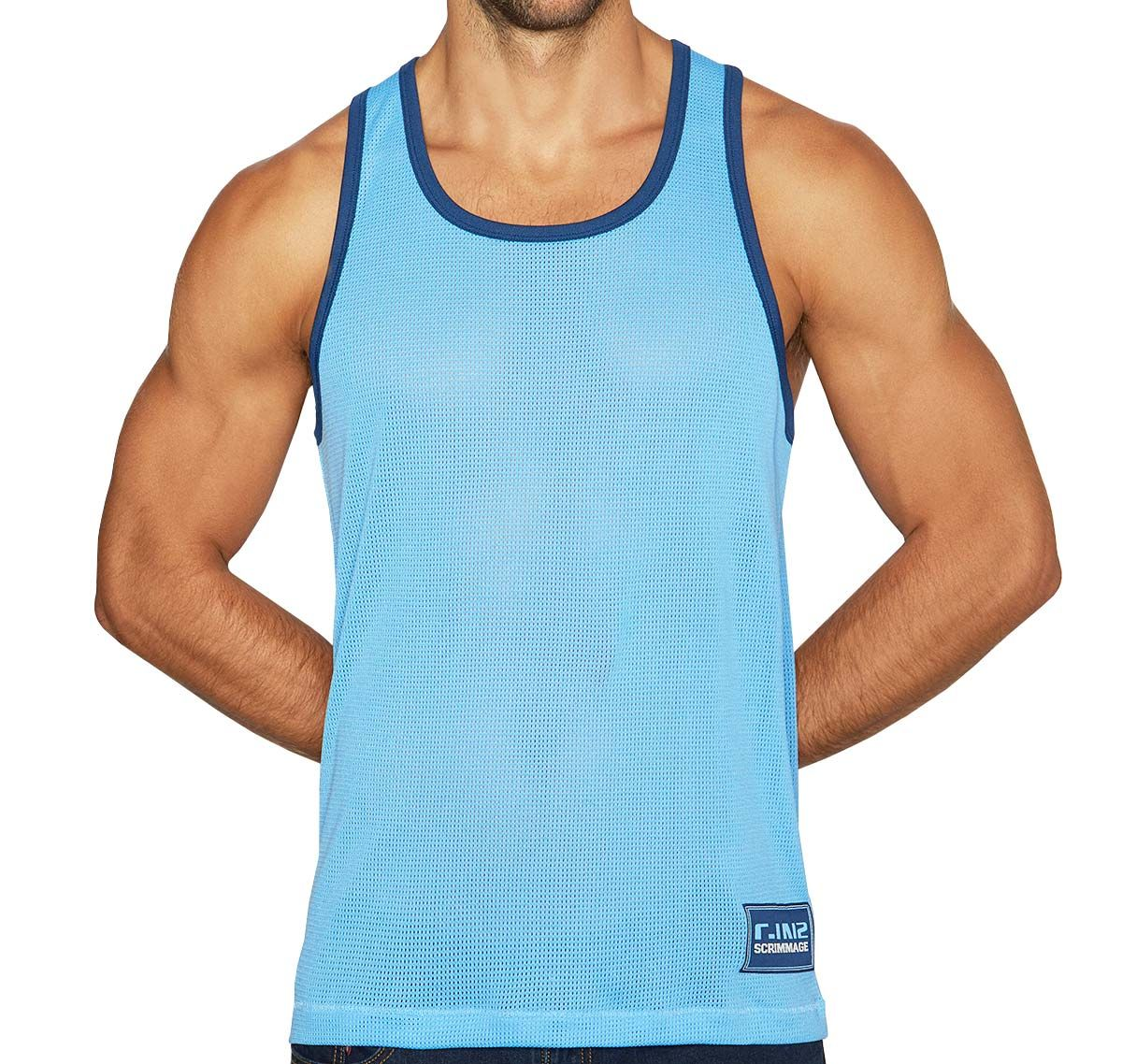 C-IN2 Tank Top SCRIMMAGE RELAXED TANK 6806-412A, blue