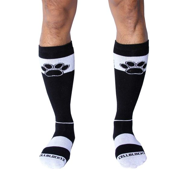 Cellblock 13 Calze sportive KENNEL CLUB ALPHA KNEE HIGH SOCK, bianco