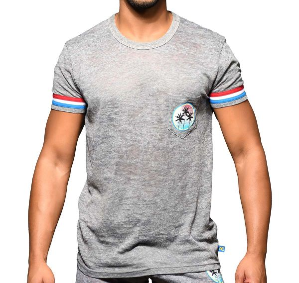 Andrew Christian T-Shirt CALIFORNIA SUPERHERO BURNOUT TEE 10311, grey
